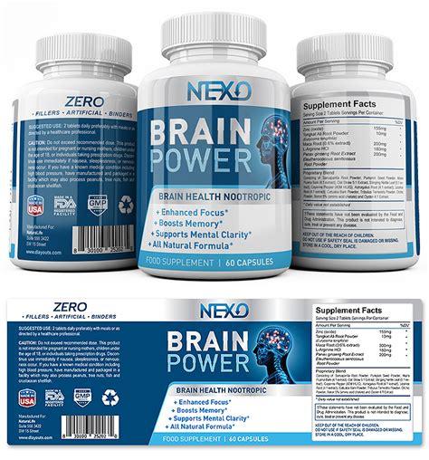 Brain Booster Supplement Label Template Supplement Label Template