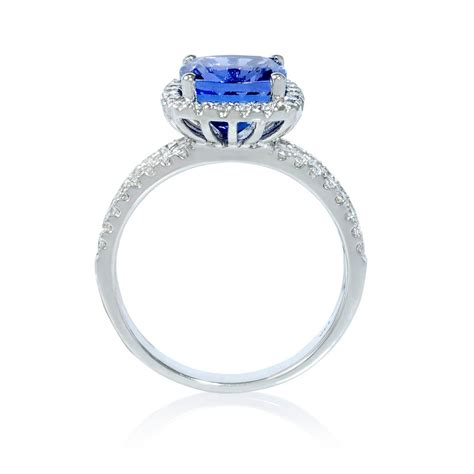 50ct and tanzanite 14k white gold ring