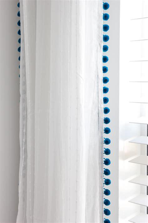 Pom Pom Curtains Diy No Sew Pom Pom Curtains Orc Week 5 Bless Er House