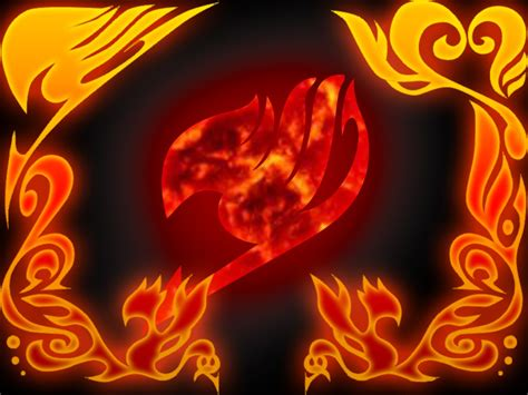 wallpaper keren fairy tail fire logo nekoni