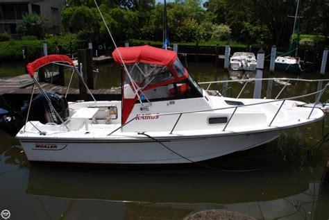 boston whaler walkaround boats 1993 used boston whaler 21 walkaround fishing boat for