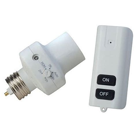 wireless light socket switch home depot southwire light control socket with programmable photocell