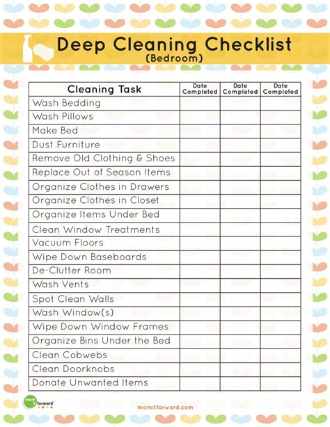 7 best images of commercial cleaning checklist printable