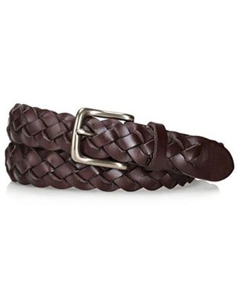 polo ralph braided leather belt accessories