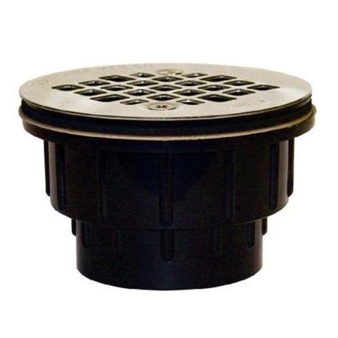2 in black abs hub shower drain with strainer 825 2apk