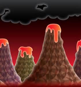 volcano background