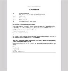 Memo Template Request Sle Meeting Request Memorandum Meeting Request Memo Template Sle Templates