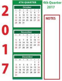 Quarter 2017 Calendar Quarterly Calendar 2017 Printable Templates Free Monthly