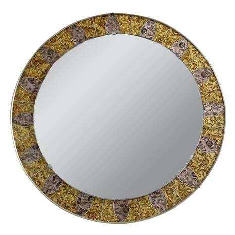 Mirror Mosaic L by 1970s Mosaic Mirror For Sale At 1stdibs