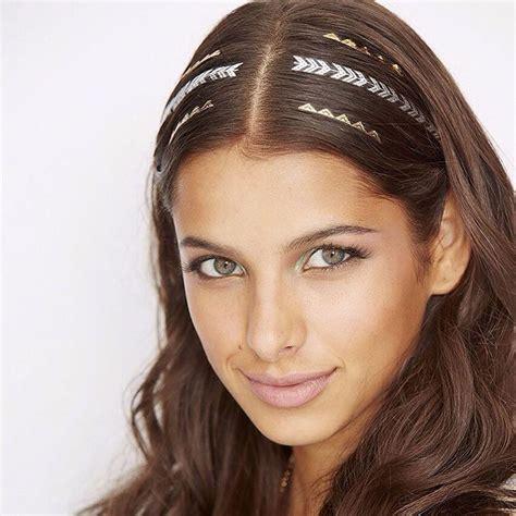flash tattoo for hair new hair accessory golden hair stickers fashion wear