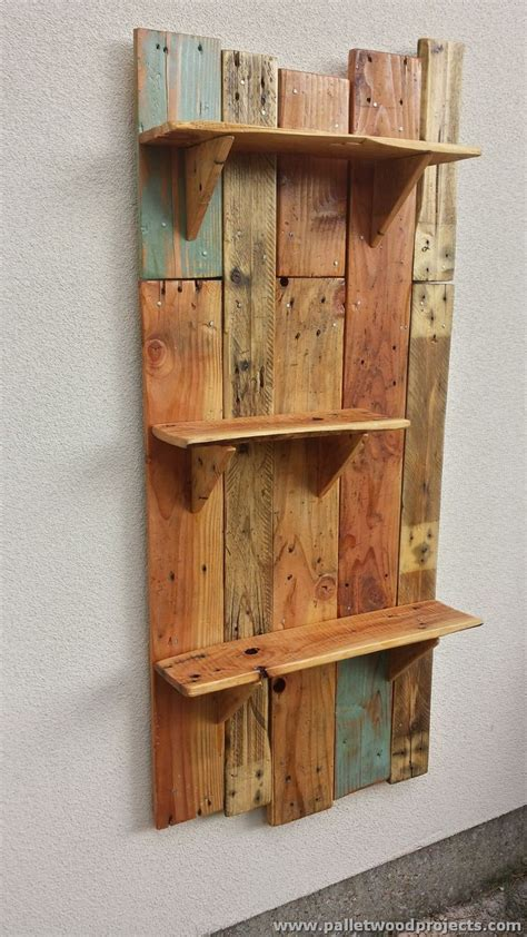 Pallet Shelf by Decorative Pallet Wall Shelves Pallet Wood Projects