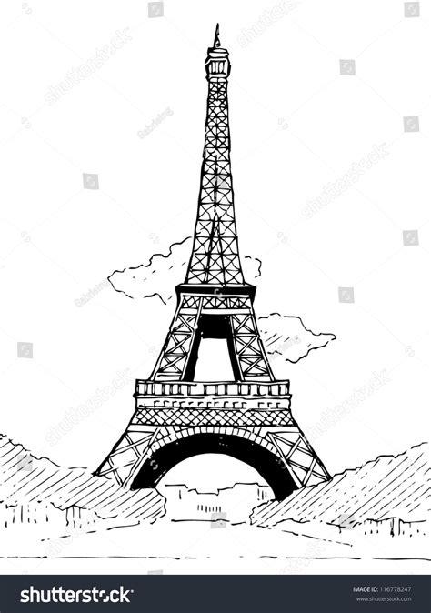 Eiffel Tower Doodle Vector Stock Vector 116778247