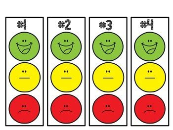 smiley behavior chart template individual smiley behavior clip chart with editable
