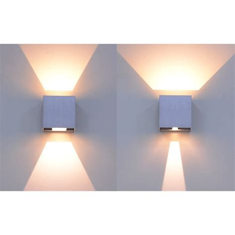 applique a led per interni applique led da interno ed esterno 6w bianco freddo caldo