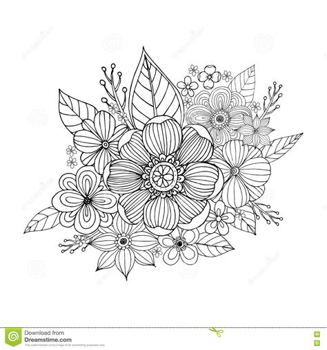 colour doodle drawing board flower doodle drawing freehand stock vector image 73482567