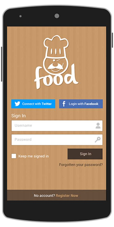 mobile splash screen templates food android app template