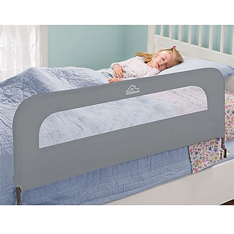 bed rail for bed homesafe folding bed rail in grey bed bath