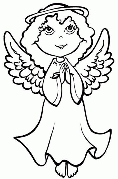 imagenes angeles navideños para colorear dibujos de 193 ngeles tiernos para colorear imagui