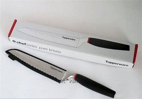 Chef Knife Tupperware tupperware stainless steel chef series bread knife sheath new in box ebay