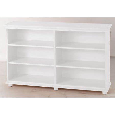 walmart white shelves 6 shelf low bookcase w crown base in white walmart