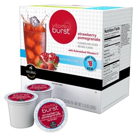 fruity k cups keurig 174 vitamin burst 174 strawberry pomegranate ic target