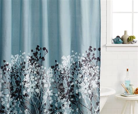 Blue Bathroom Shower Curtains Blue Bathroom Shower Curtains Thedancingparent