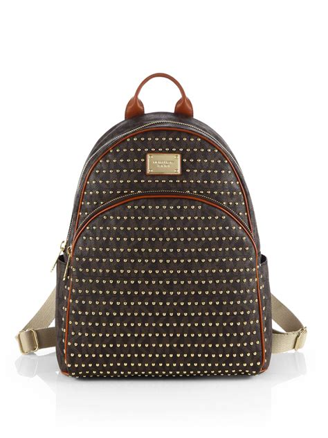 Backpack By Michael Kors by Lyst Michael Michael Kors Large Studded Logo Print