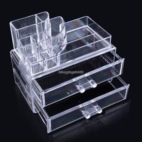 Jewelry Containers For Drawers by Clear Drawer Acrylic Vanity Cosmetics Jewelry Makeup