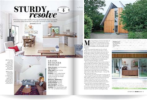 home design articles grand designs magazine house feature layout design on behance