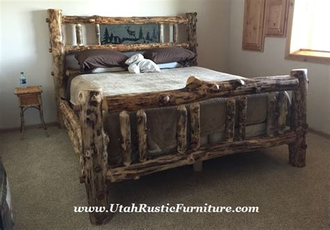 bedroom sets utah bradley s utah log furniture rustic aspen log bedroom