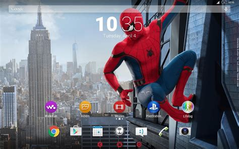 homecoming themes play xperia spider man homecoming theme android apps on