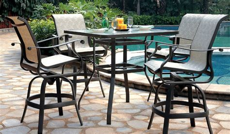 patio renaissance mandalay sling outdoor high dining