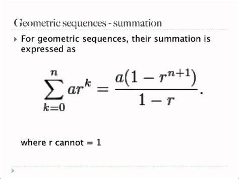 geometric number pattern formula eecs 203 discrete mathematics geometric sequence and