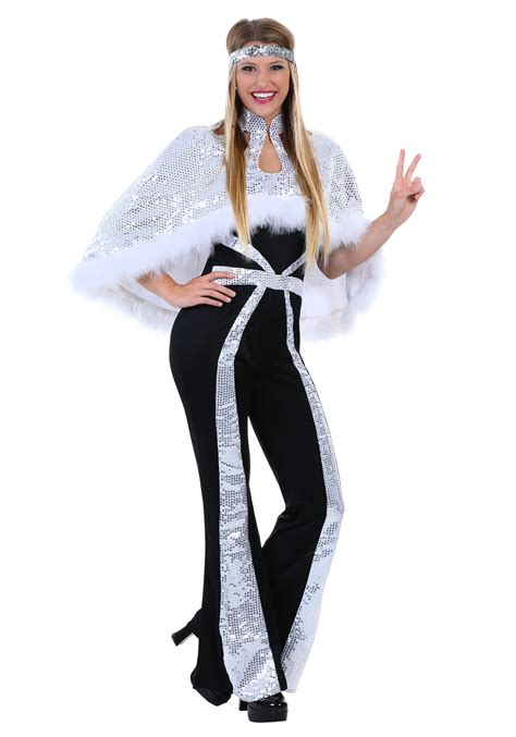 dazzling silver disco costume for