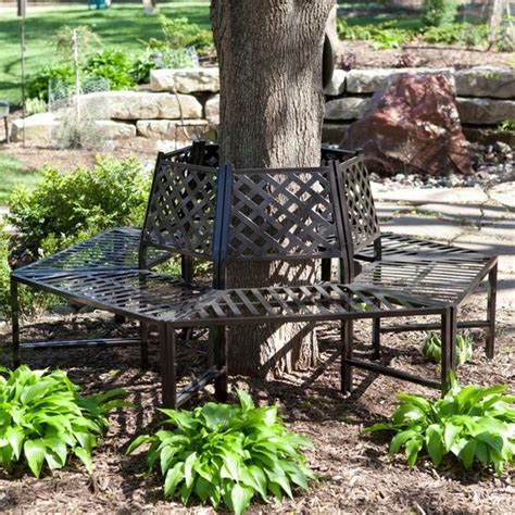 wrought iron tree bench wrought iron tree bench surround outdoor furniture decor
