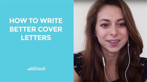 Better Cover Letter by How To Write Better Cover Letters