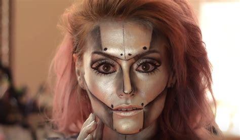 tutorial makeup robot 25 creative halloween makeup ideas
