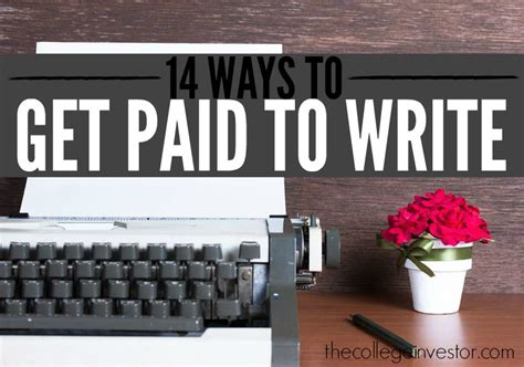 Get Paid To Write - 14 ways to get paid to write single moms income