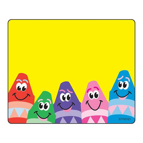 colorful names name tags colorful crayons 36 pk the knowledge tree
