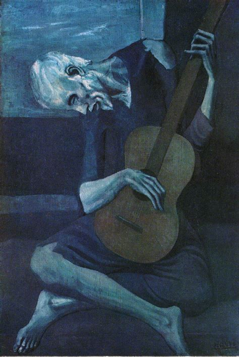 picasso paintings blue period guitar the blind guitar player picasso blue period
