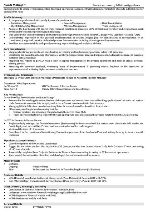branch operations officer resume 28 images sle resume