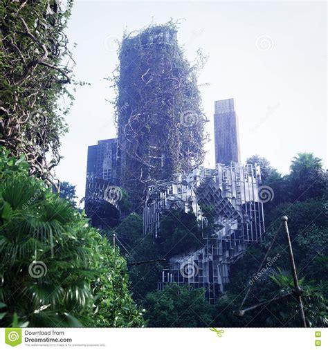 futuristic cloud city skyscraper could bring the dream of futuristic city background royalty free stock image