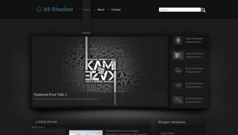 templates to website x5 x5 shadow blogger template btemplates