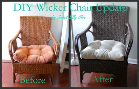 spray paint wicker furniture sweet silly chic