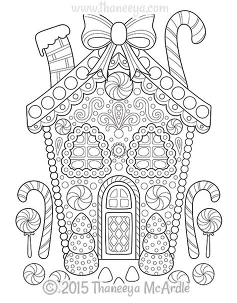 decorated house coloring pages christmas coloring book by thaneeya mcardle thaneeya com