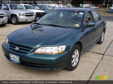 2002 green honda accord noble green pearl 2002 honda accord se sedan ivory