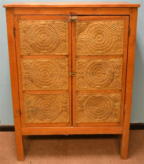 pie safe with 12 punched tin panels c 1880