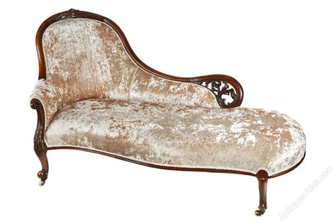 victorian chaise victorian carved walnut chaise longue antiques atlas