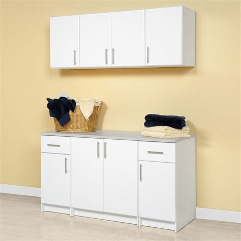 Laundry Room Storage Cabinets Prepac Furniture Elite Storage Laundry Room Cabinet Set Lowe S Canada