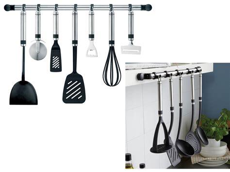 Kitchen Utensil Rail Stainless Steel by Kitchen Utensil Gadget Holder Hook Rail Stainless Steel